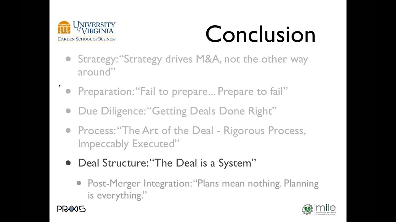 Best Practices in Acquisition Strategy by Dr. Michael J