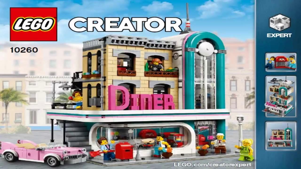 lego creator expert 2018 downtown diner 10260 youtube. Black Bedroom Furniture Sets. Home Design Ideas