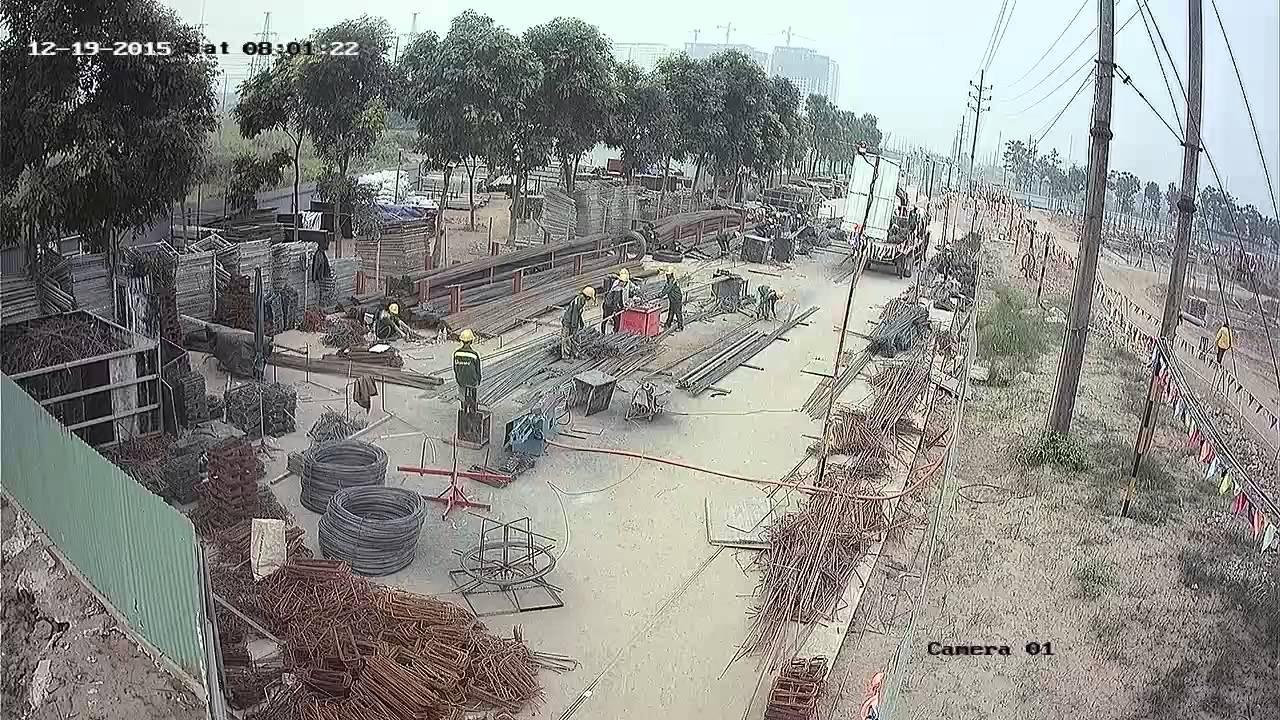 Lắp camera cho công trường xây dựng