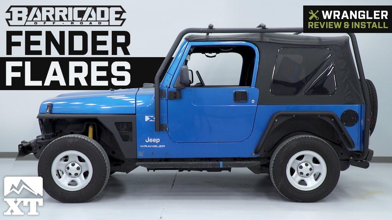 Jeep Wrangler Barricade Fender Flares 1997 2006 TJ Review Install