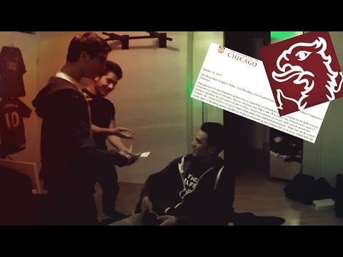FAKE UNIVERSITY OF CHICAGO ACCEPTANCE PRANK!