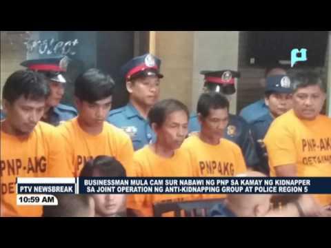 NEWS BREAK: Businessman mula Cam Sur, nabawi ng PNP sa kamay ng kidnapper sa Joint Operations