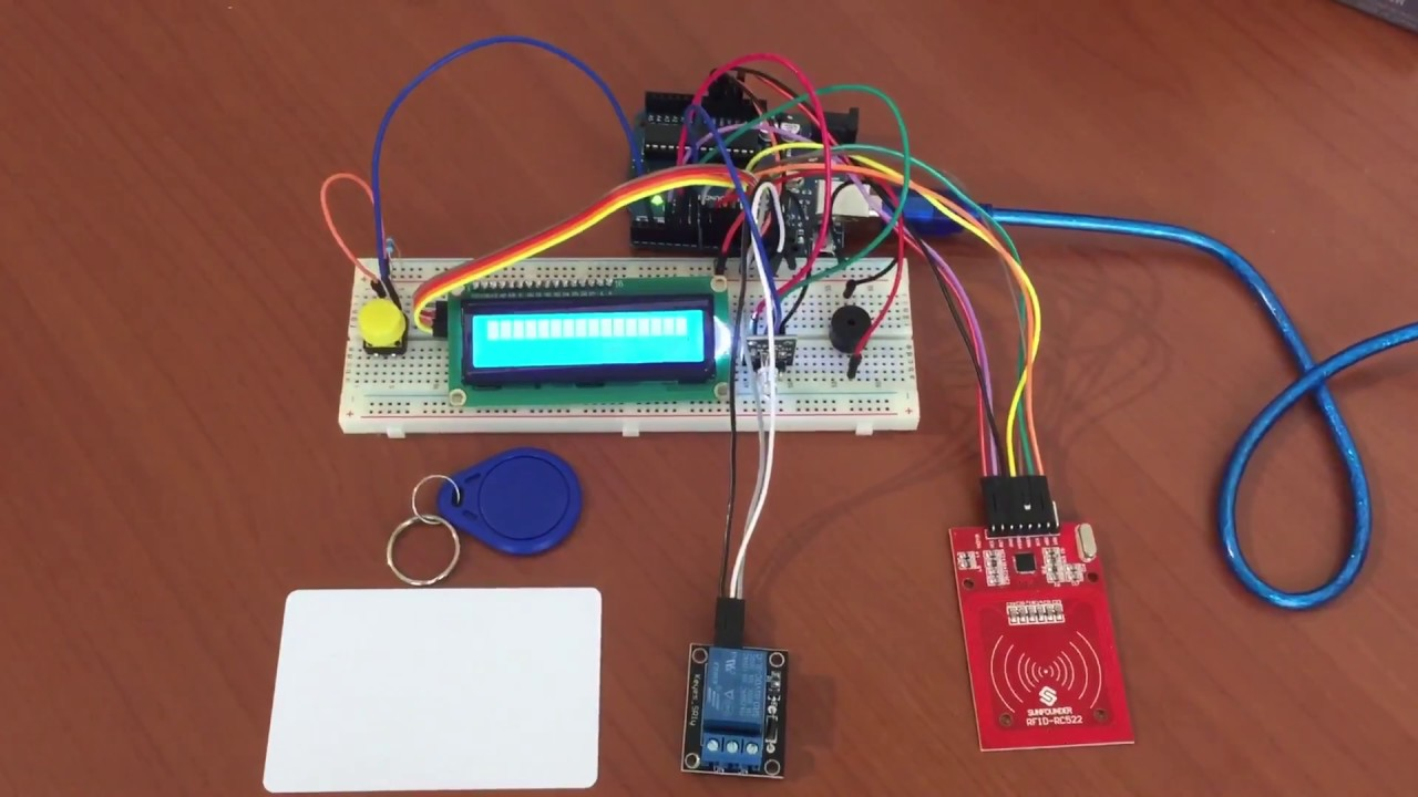 Simple Arduino Rfid With Programming Function Reley Lcd