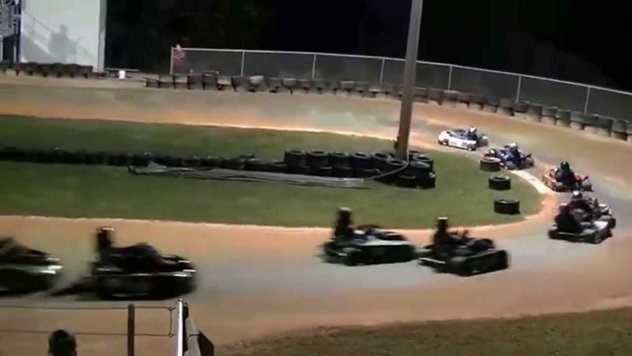 Dirt Track Go Kart racing Adult feature race 3-15 - YouTube