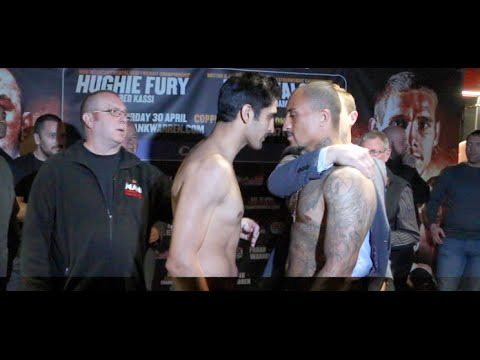 HEADS IN!!!! - VIJENDER SINGH v MATIOUZE ROYER - OFFICIAL WEIGH IN FROM COPPERBOX (STRATFORD)