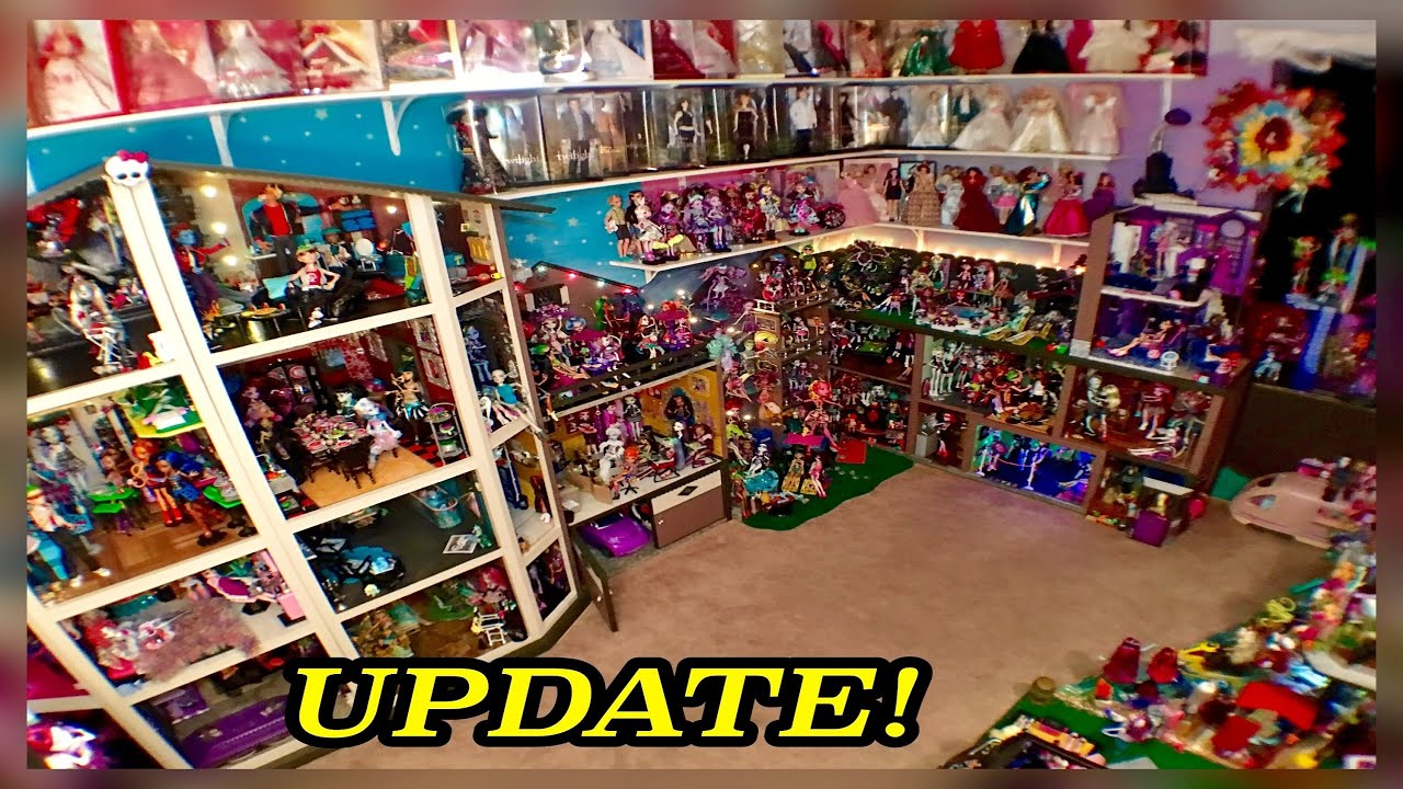 Monster High Dollhouse Tour 50room 54bed 350mh Dolls