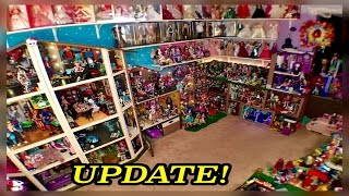 monster high doll house tour 50room 54 bed 350mh dolls collection school house mansion dorm video rv