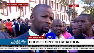 Mixed reaction to #BudgetSpeech2018