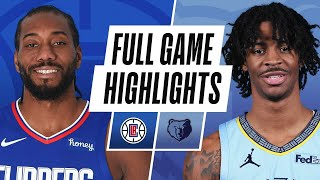 CLIPPERS at GRIZZLIES | FULL GAME HIGHLIGHTS | February 25, 2021