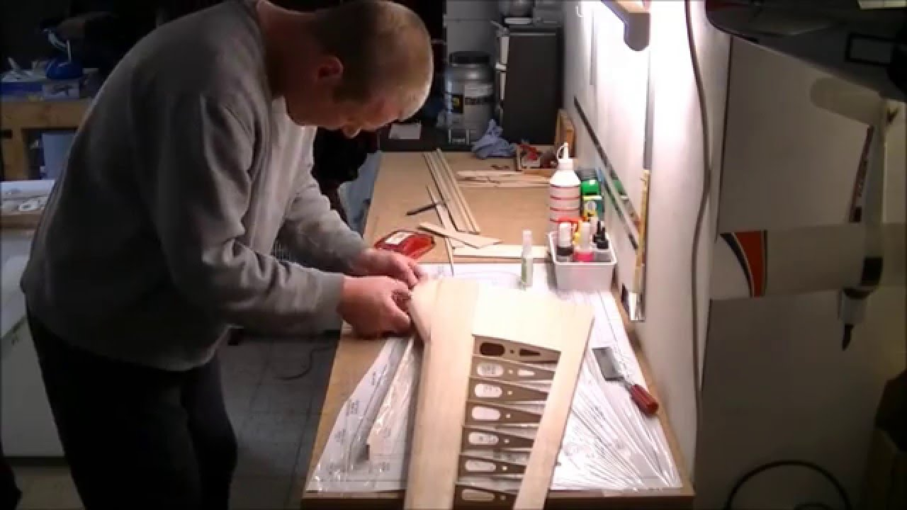 P 51 Mustang Rc Build Of A Great Planes Kit Part2 Wing