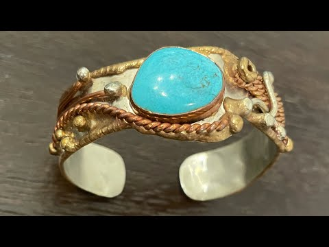 Goodwill Bluebox mystery jewelry unboxing! Native turquoise and vintage sterling silver!