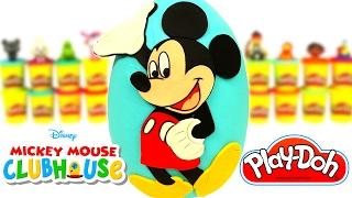Huevo Sorpresa Gigante de La Casa de Mickey Mouse en Español de Plastilina Play Doh