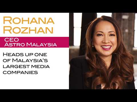 Astro Malaysia CEO Rohana Rozhan on Having Big Dreams--and Role Models