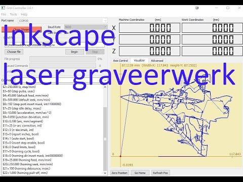 Inkscape laser graveer en etswerk in Afrikaans