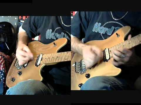 Dio - Vivian Campbell  Stand Up and Shout  (solo cover using free guitarless back track)