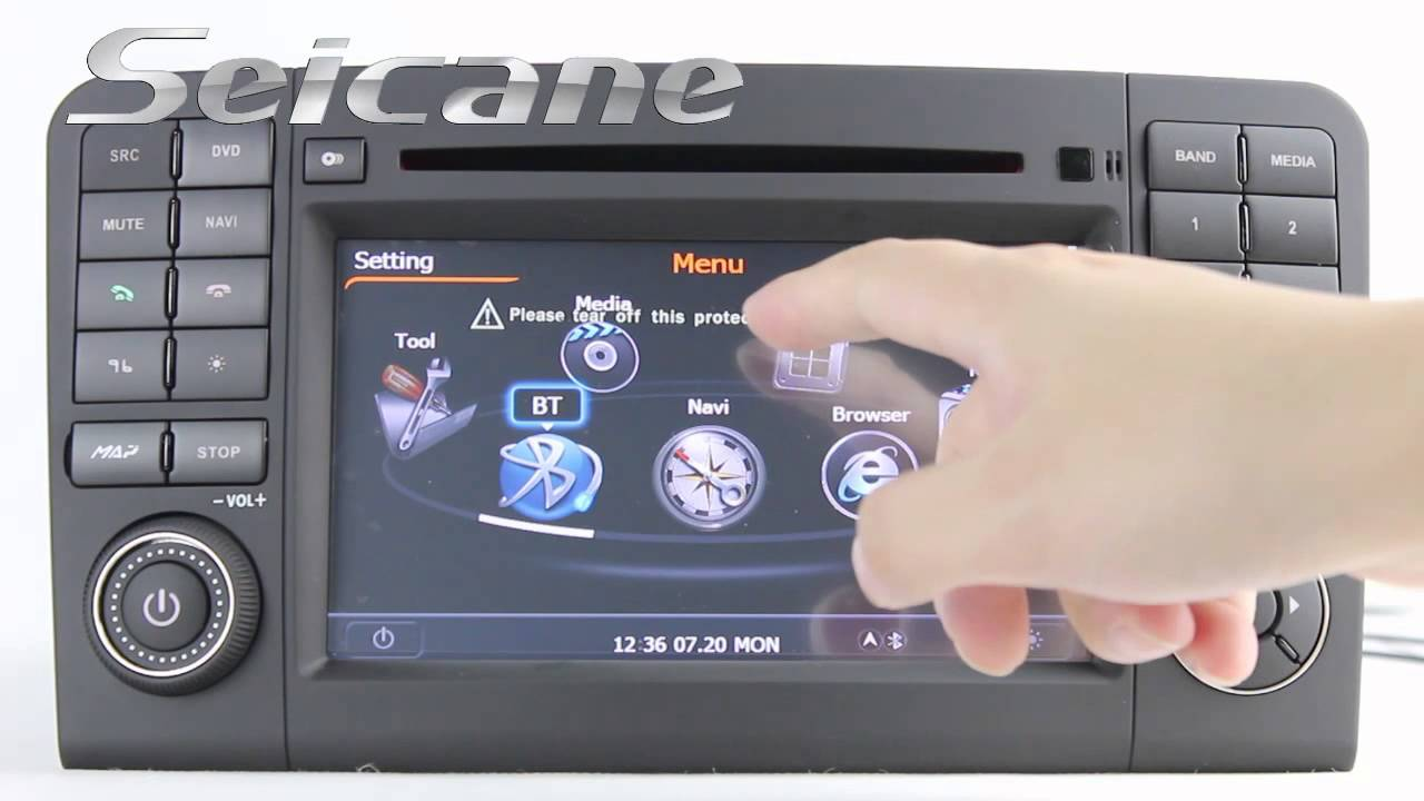 2005 2012 mercedes benz ml280 ml350 ml420 ml500 gps radio for Mercedes benz music system