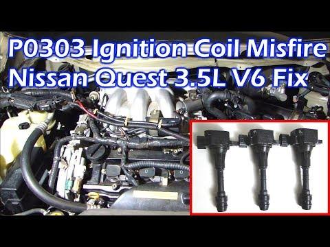 Nissan 3 5L V6 Ignition Coil Misfire - P0303 Cylinder 3 Misfire