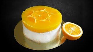 Нежный муссовый торт-пломбир с АПЕЛЬСИНОВЫМ ЖЕЛЕ