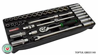 Обзор  Набора профессионального инструмента TOPTUL GBB35140 на 35 предметов.
