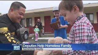 Sheriff's Deputies Help Homeless Family In Need