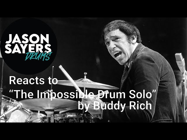 Drummer Reacts to - Buddy Rich - The Impossible Drum Solo