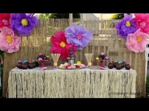 hawaiian party decorations   youtube