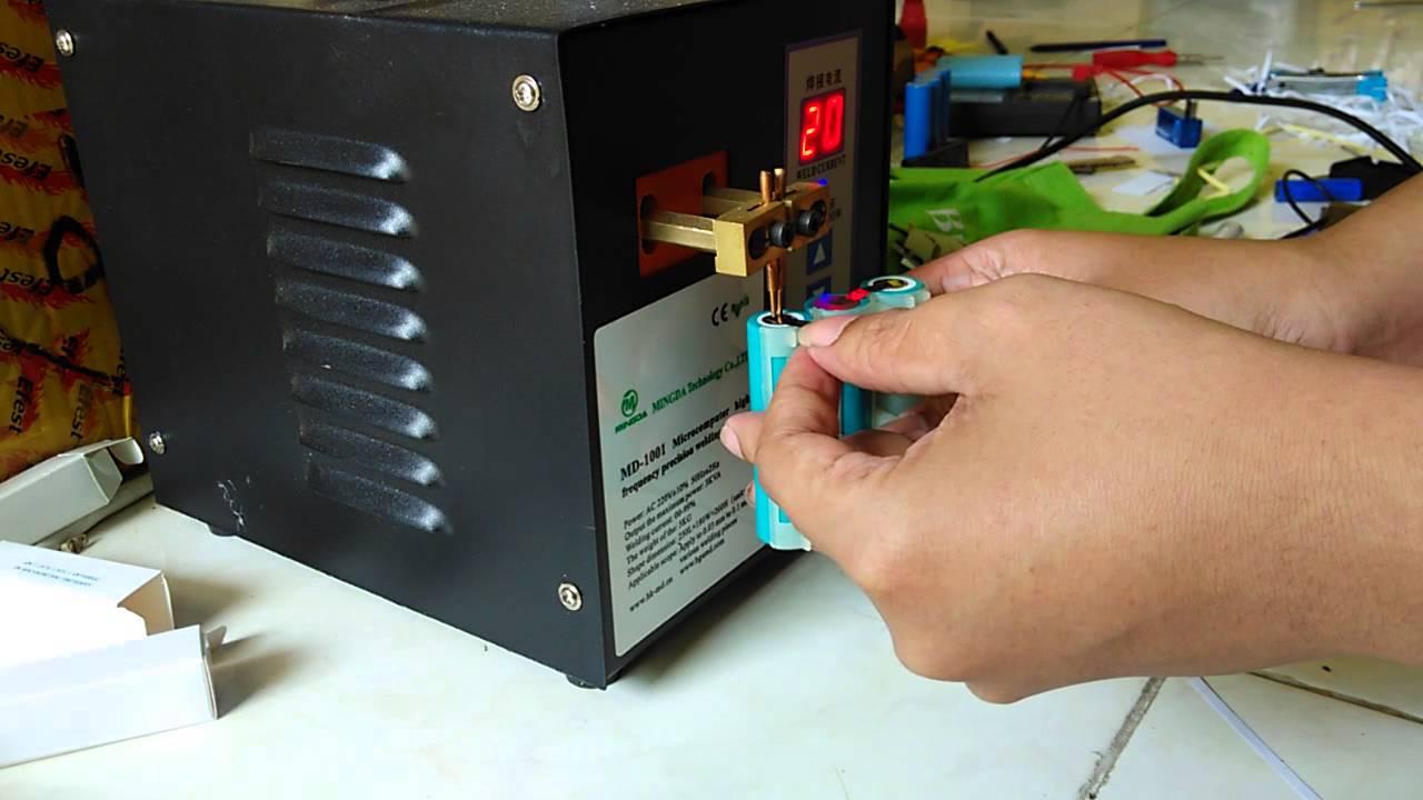Mesin Spot Welding Las Bukan Solder Baterai Li Ion 18650 Untuk Battery Pack Power Bank Dll Youtube