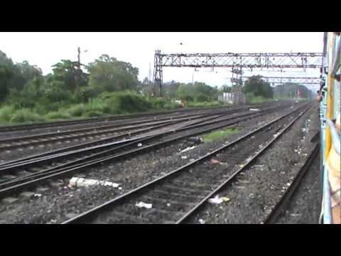 Arriving at Bandel Junction on Main line: Black Diamond Express on-board