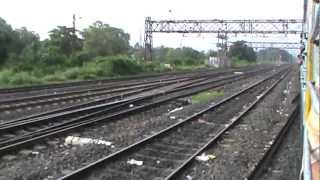 Arriving at Bandel Junction on Main line: Black Diamond Express on-board