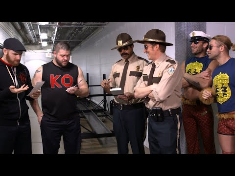Super Troopers harass SmackDown LIVE Superstars