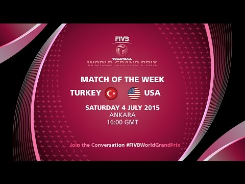 Live: Turkey vs USA - FIVB Volleyball World Grand Prix 2015