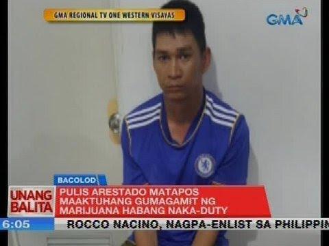 UB: Pulis arestado matapos maaktuhang gumagamit ng marijuana habang naka-duty