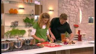 Tana Ramsey's Chicken and Butterbean Casserole part 1 - Saay Kitchen - BBC