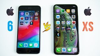 iPhone XS vs iPhone 6 SPEED Test - 4 Years Makes a BIG Difference