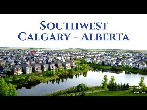 Drone Flight - Southwest Calgary, Alberta