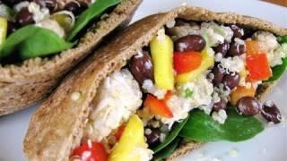 Clean Eating Black Bean And Quinoa Pita Pocket Recipe