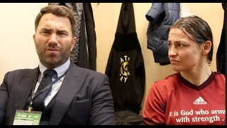 'IM PETRIFIED OF YOU!' - EDDIE HEARN TO KATIE TAYLOR, DISCUSS WAHLSTROM WIN, SERRANO, HOLM, BRAEKHUS