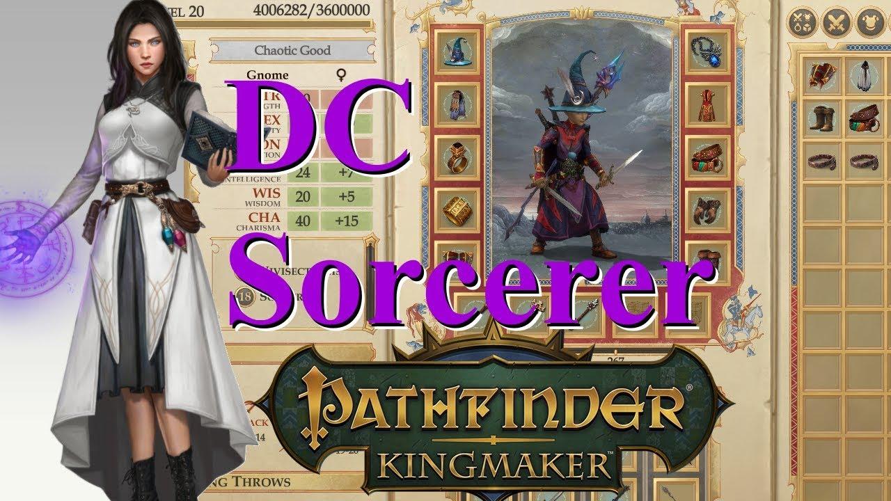 Pathfinder Kingmaker 1 1, DC Sorcerer Build Guide (Reupload)