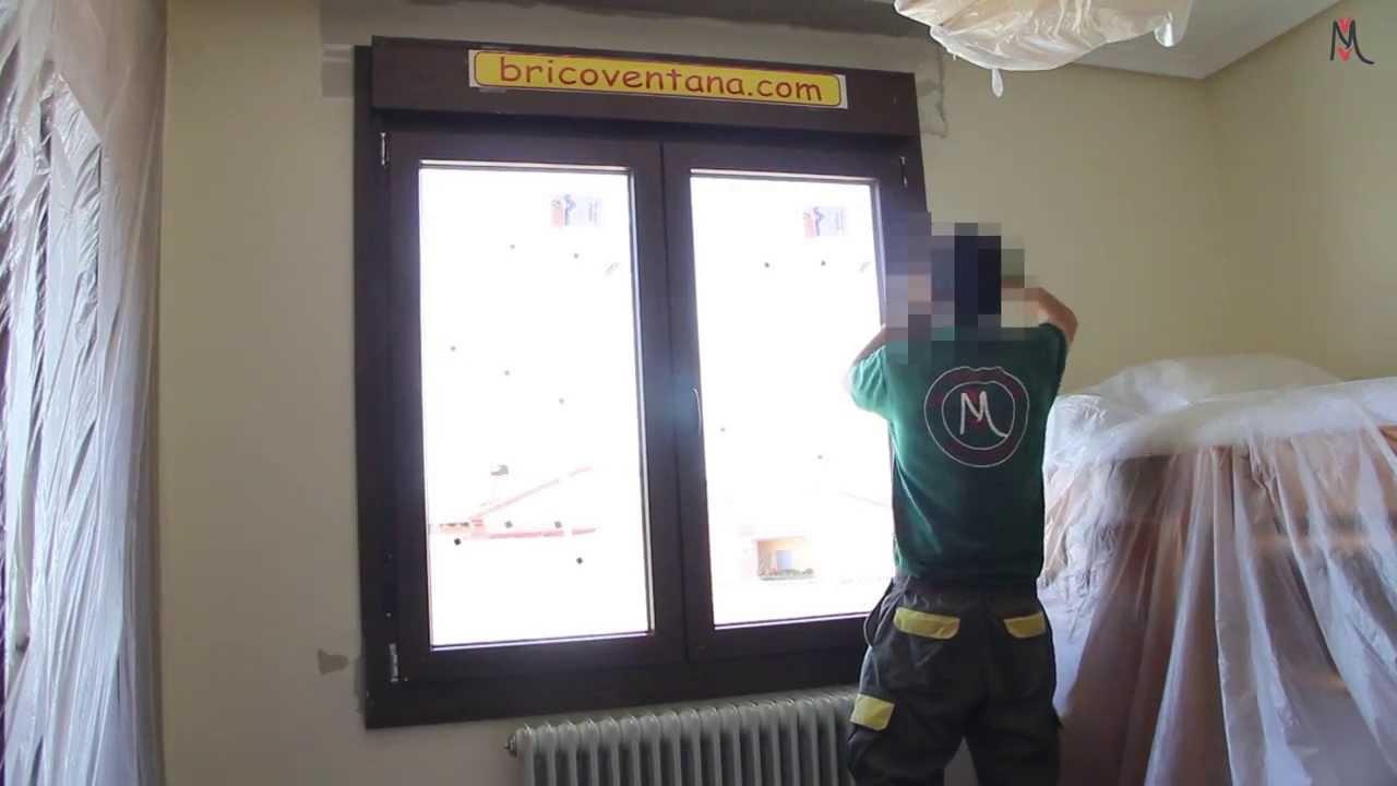Colocaci n ventana con persiana pvc aluminio viuda de for Ventanas con persianas incorporadas