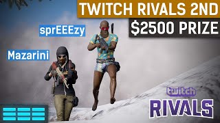 Twitch Rivals 2nd Place | $2500 For sprEEEzy and Mazarini | PUBG Highlights