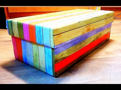 Как обклеить коробку для подарка. Декор оберточной бумагой. Мастер класс