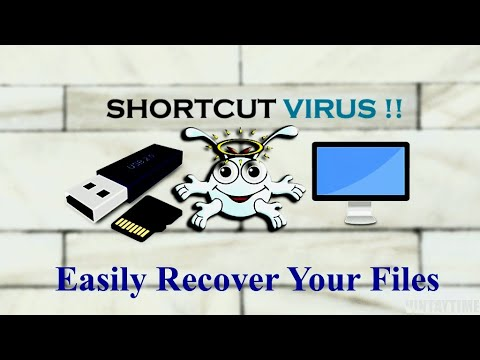 How to remove shortcut virus in Pendrive, Memory card