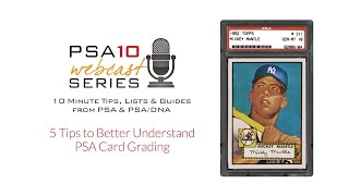 Card Grading Tips from PSA, Using the Classic 1952 Topps Mickey Mantle