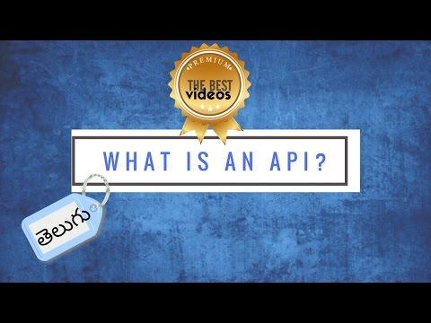 What is an API in Telugu