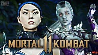 Mortal Kombat 11 - NEW Sindel Intros With Kitana & Liu Kang!!