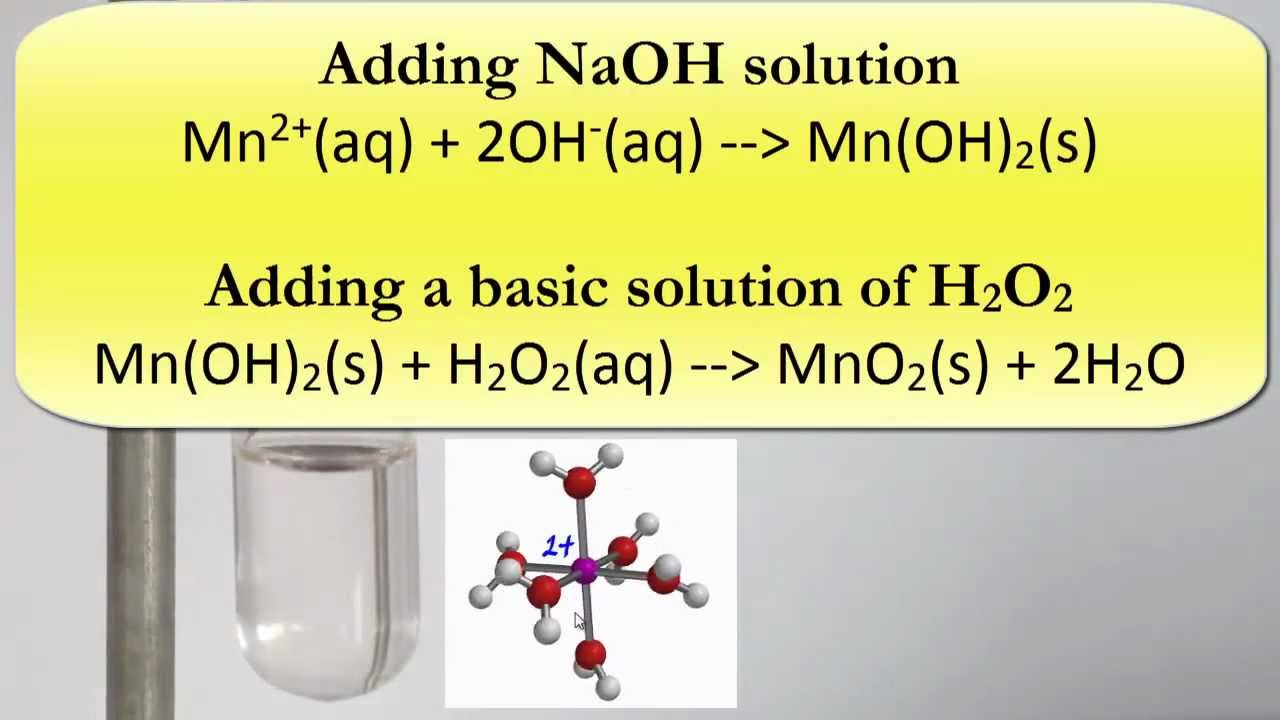Complex Ions Precipitating And Oxidising Manganese Ii Hydroxide