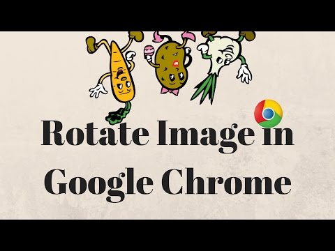 How to Rotate Image In Google Chrome - YouTube