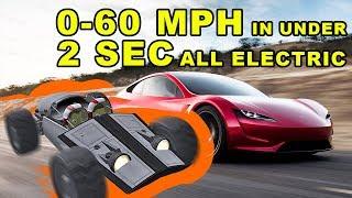 Tesla Roadster like performance in KSP: 0-60 in 1.9 sec - The very Kerbal Kesla Roadster