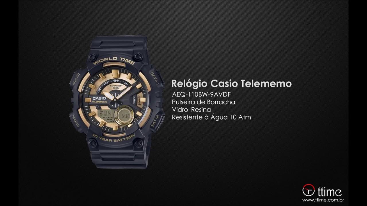 5fa343aeada RELÓGIO CASIO TELEMEMO AEQ-110BW-9AVDF + HORA MUNDIAL