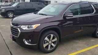 2019 Black Currant 3LT Leather Traverse!